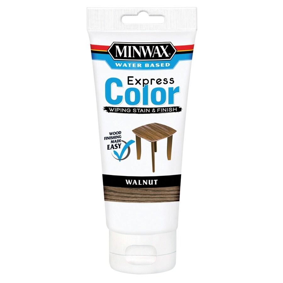 Minwax Express Color Half Pint Walnut Latex Wood Stain