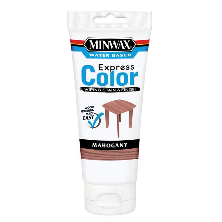 Minwax Express Color Half Pint Mahogany Latex Wood Stain