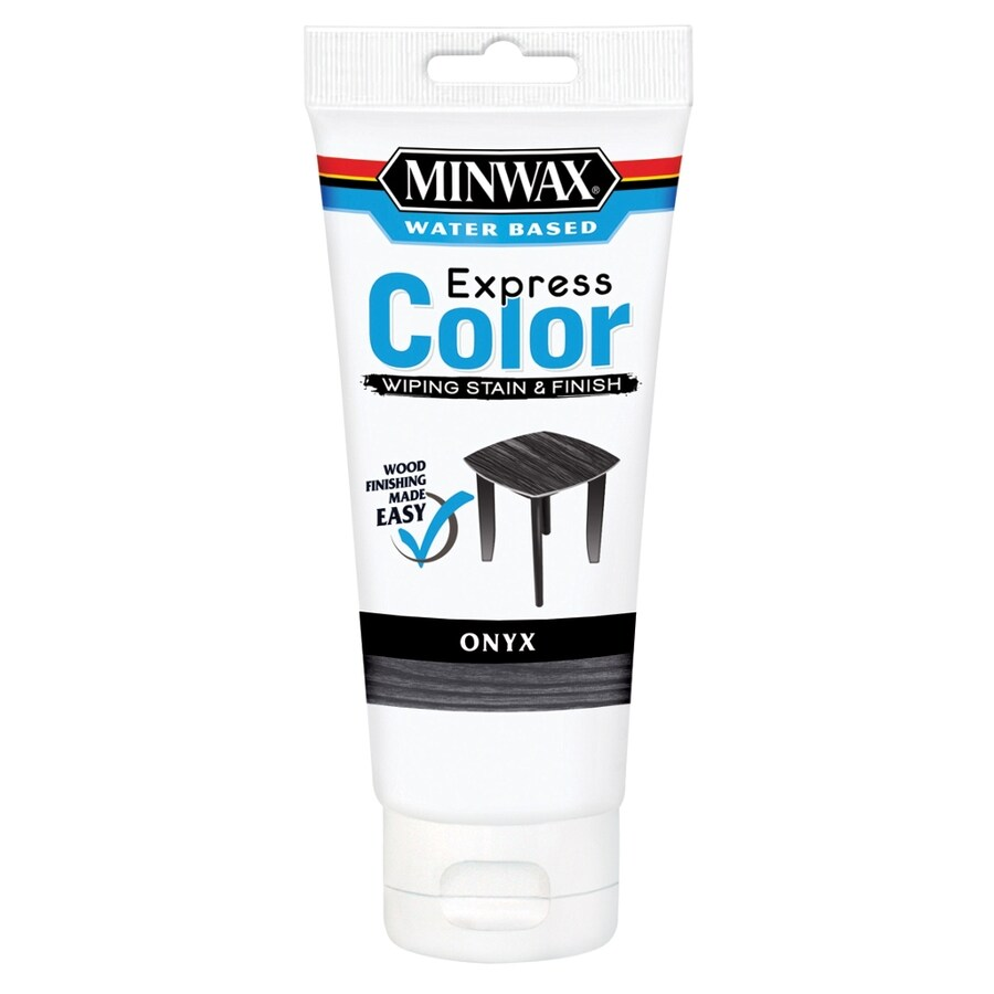 Minwax Express Color Half Pint Onyx Latex Wood Stain