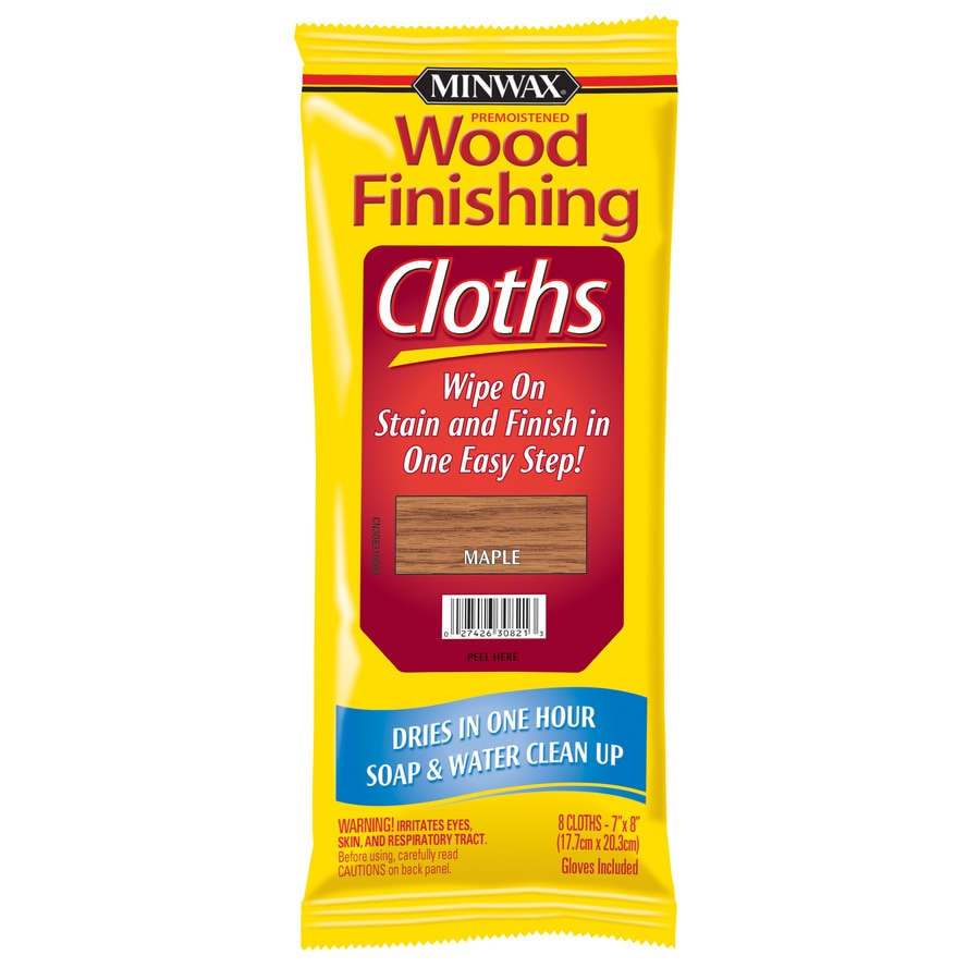 Shop Minwax Wood Finishing Cloths Maple Water Based Interior Stain At