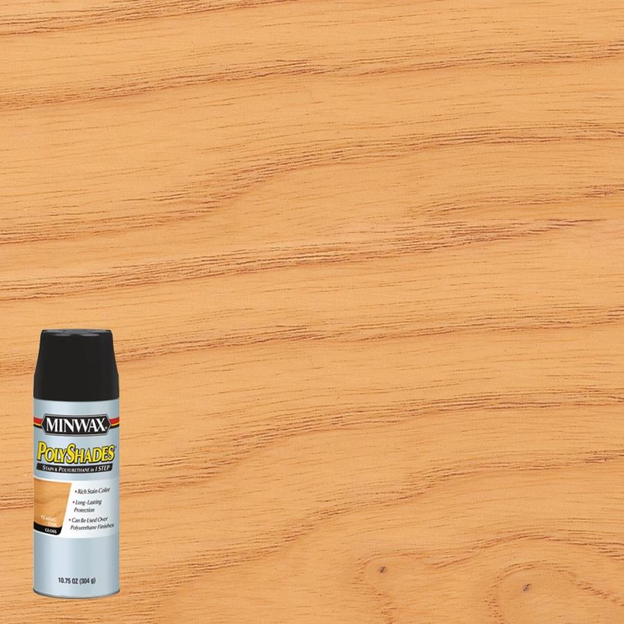 Minwax Polyshades 10.75-fl oz Classic Oak Gloss Oil-Based Interior Stain