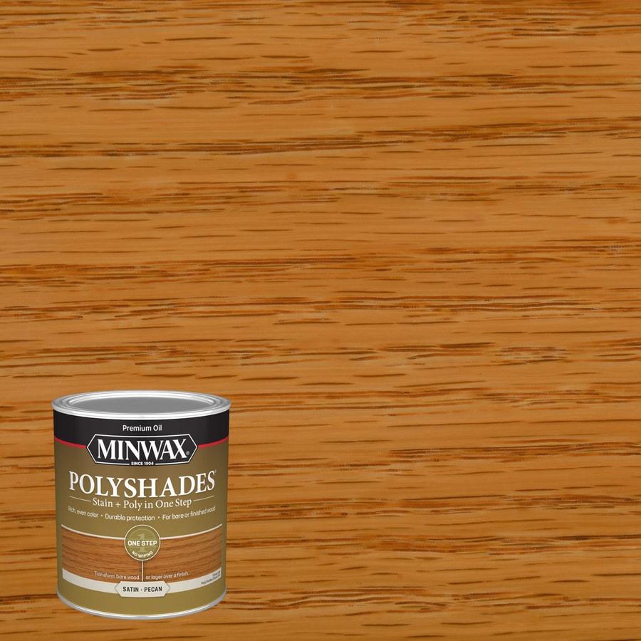Minwax Polyshades 32-fl oz Pecan Satin Oil-Based Interior Stain