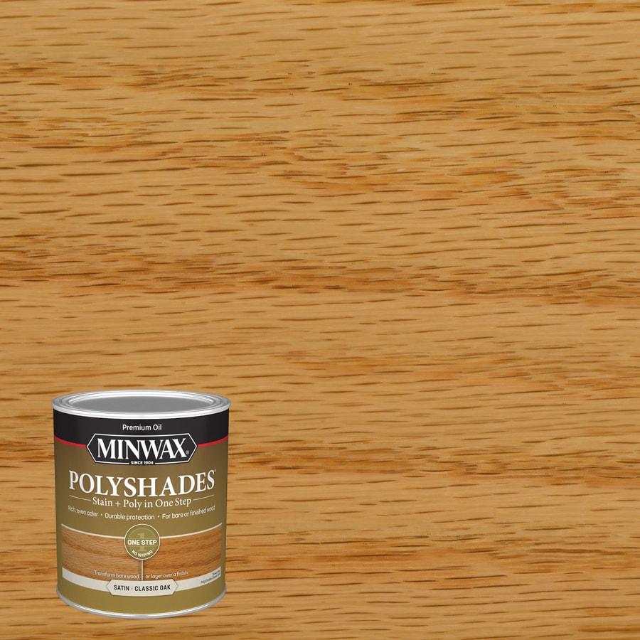 Minwax Polyshades 32-fl oz Classic Oak Satin Oil-Based Interior Stain