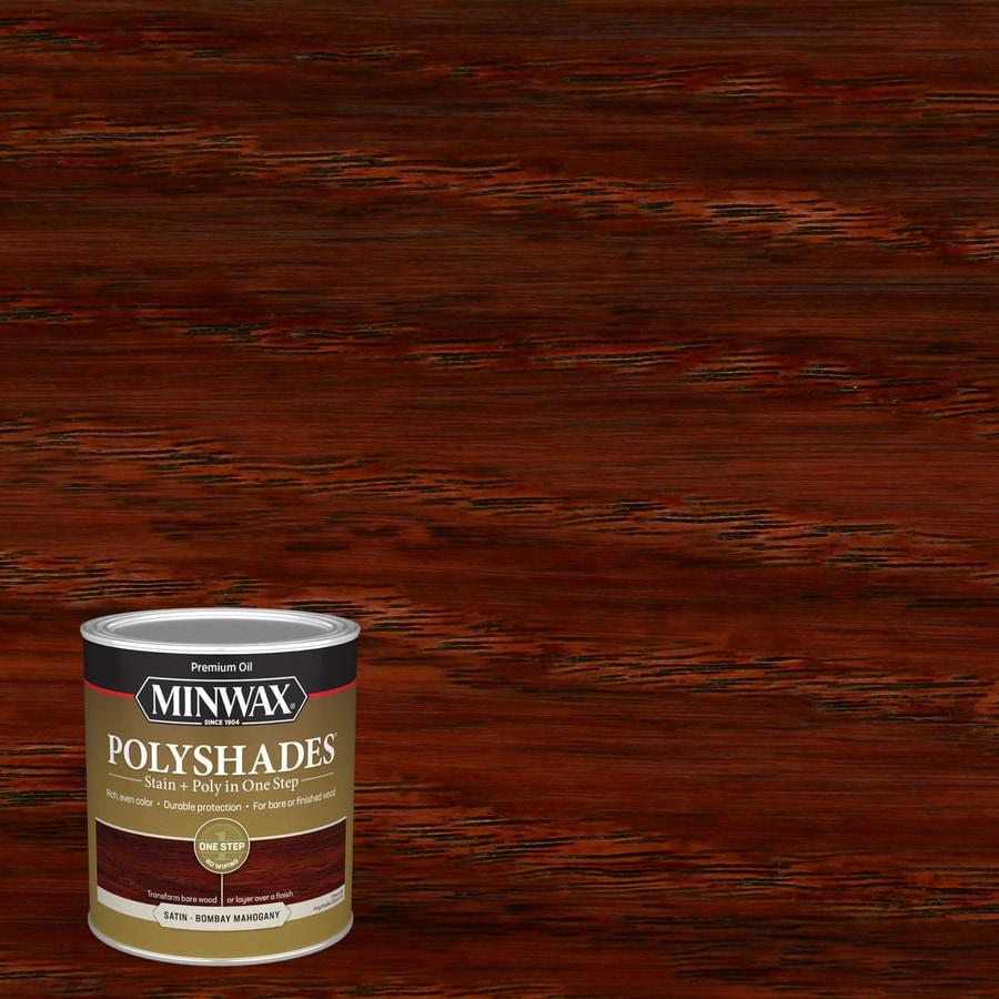 Minwax Polyshades 32-fl oz Bombay Mahogany Satin Oil-Based Interior Stain