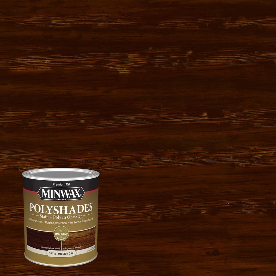 Minwax Polyshades 32-fl oz Mission Oak Satin Oil-Based Interior Stain