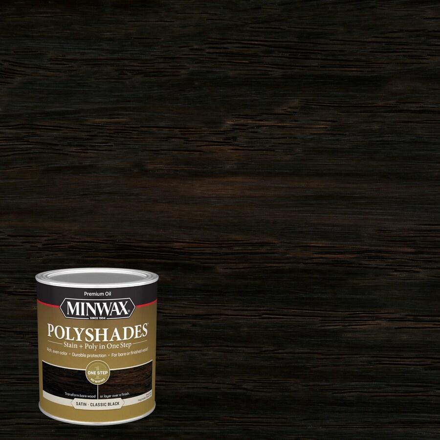 Minwax Polyshades 32-fl oz Classic Black Satin Oil-Based Interior Stain