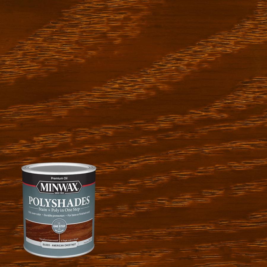 Minwax Polyshades 32-fl oz American Chestnut Gloss Oil-Based Interior Stain