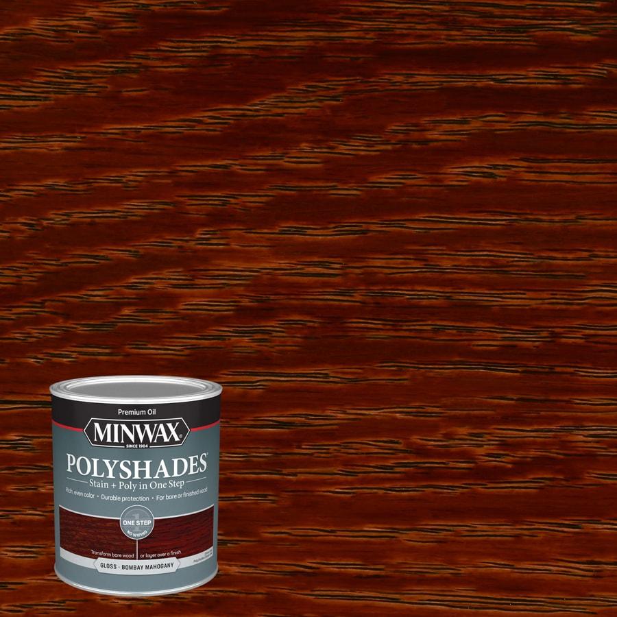 Minwax Polyshades 32-fl oz Bombay Mahogany Gloss Oil-Based Interior Stain