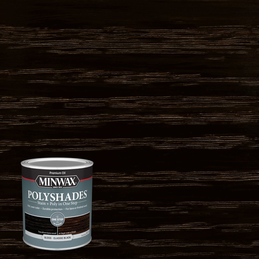 Minwax Polyshades 32-fl oz Classic Black Gloss Oil-Based Interior Stain