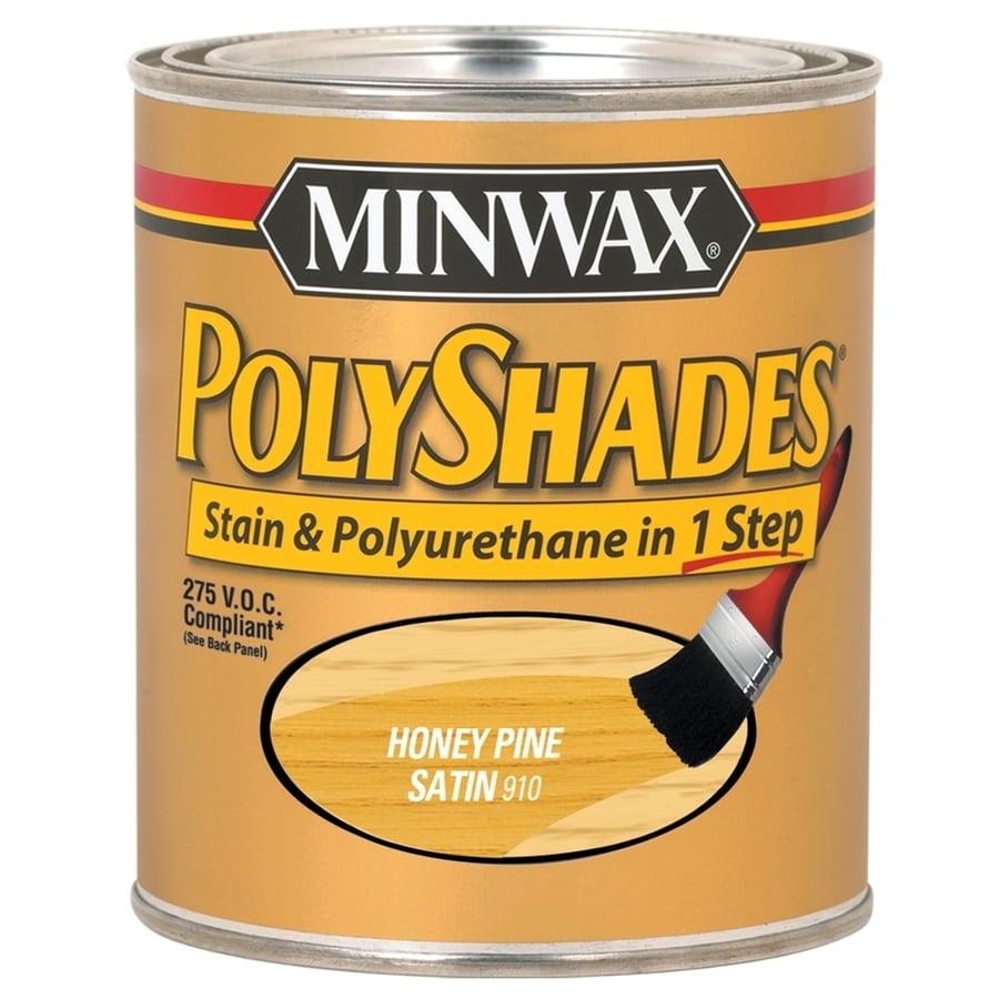 Minwax Polyshades 32-fl oz Honey Pine Satin Oil-Based Interior Stain