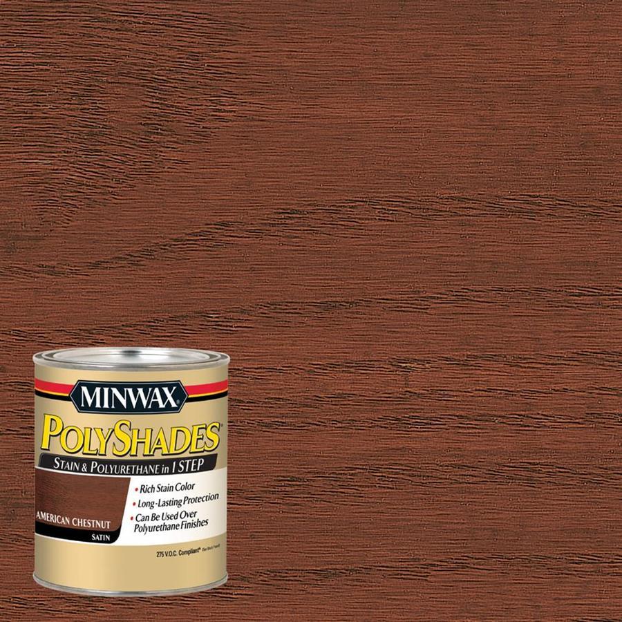 Minwax Polyshades 32-fl oz American Chestnut Satin Oil-Based Interior Stain