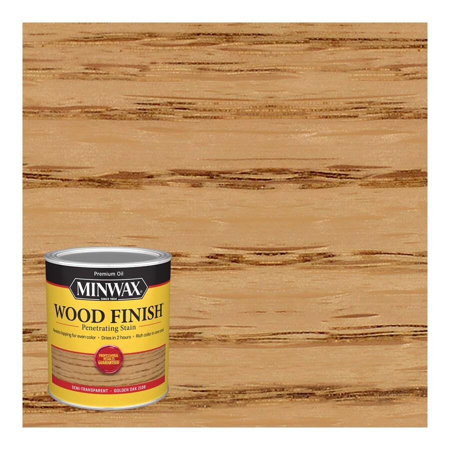 Minwax Wood Finish 32-fl oz Golden Oak Oil-Based Interior Stain