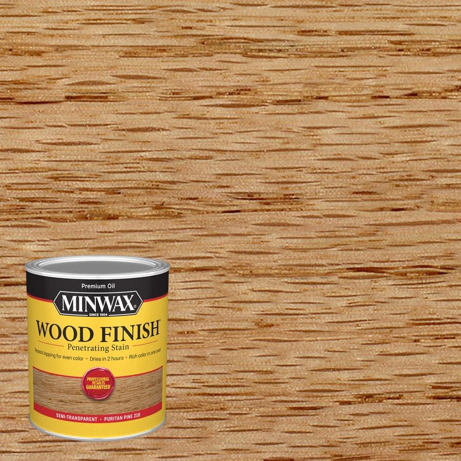 Shop Minwax Wood Finish 32 Fl Oz Puritan Pine Oil Based Interior Stain At