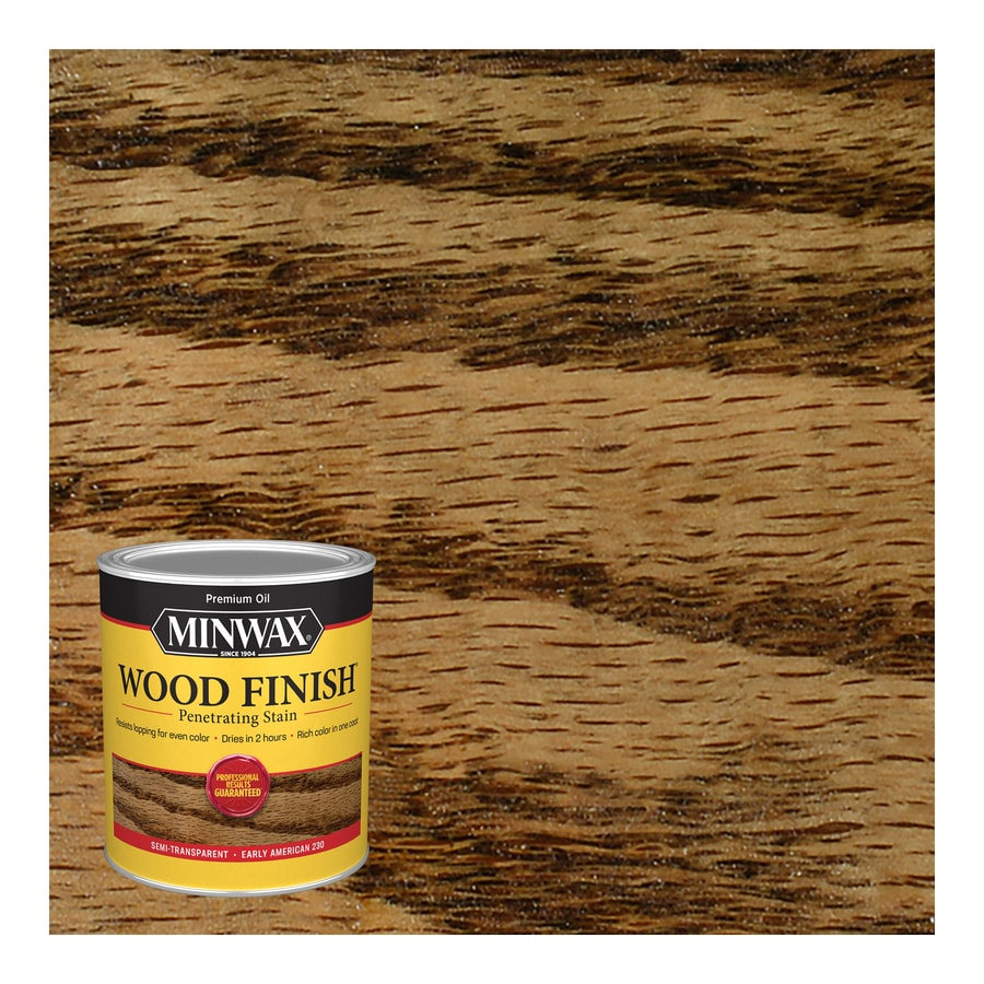 Shop Minwax Wood Finish 32 Fl Oz Early American Oil Based Interior Stain At