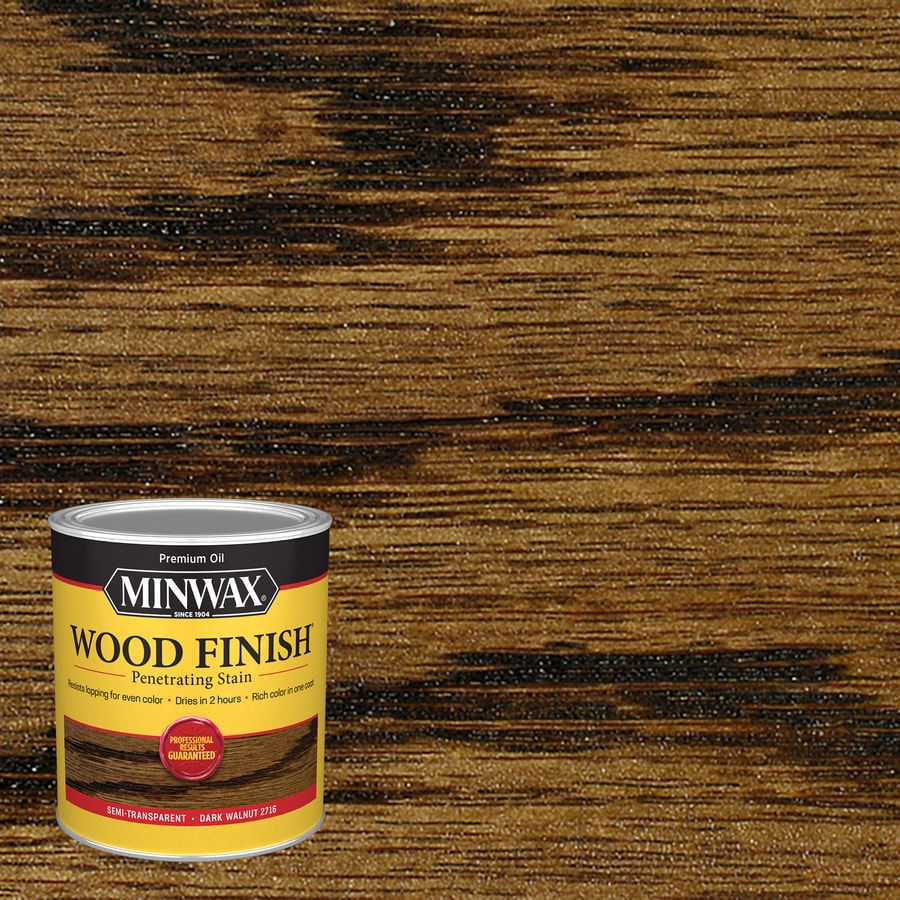 Minwax Wood Finish Oil Based Stain Dark Walnut Oil Based Interior Stain Quart In The Interior Stains Department At Lowes Com