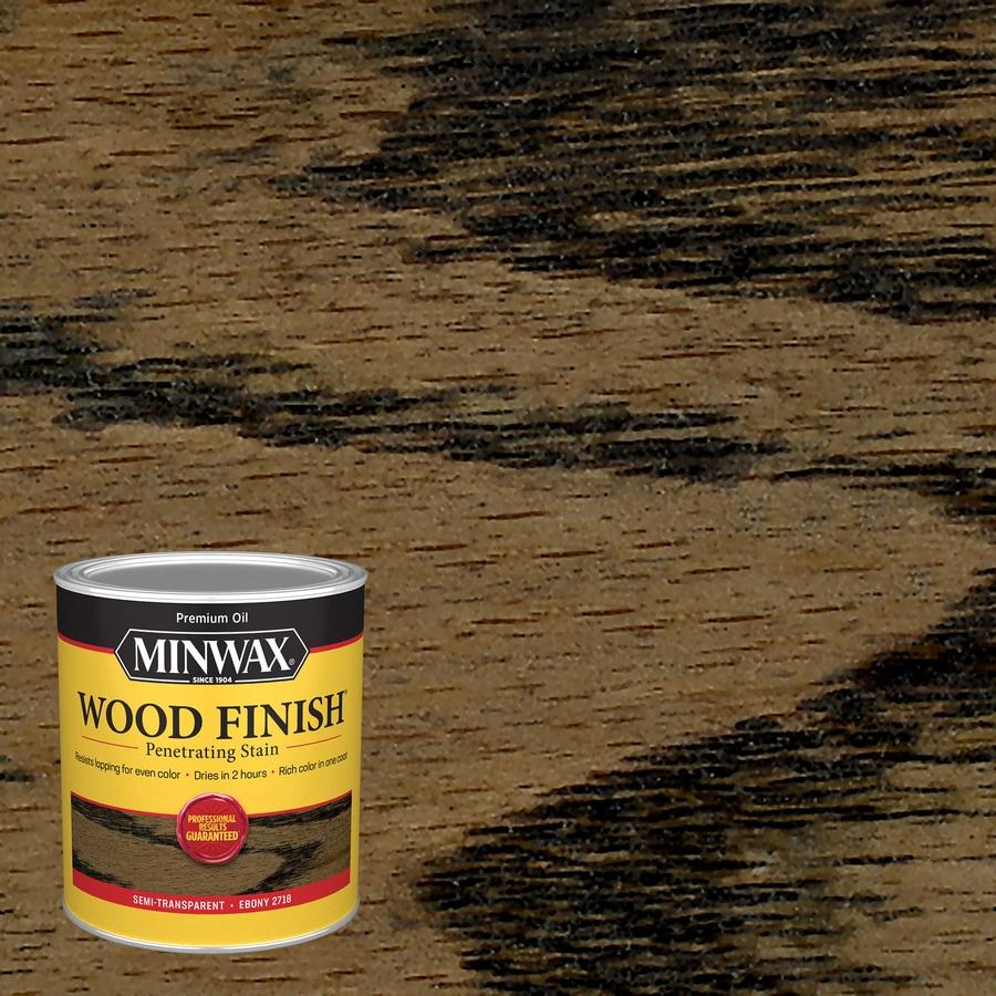 Minwax Wood Finish 32-fl oz Ebony Oil-Based Interior Stain