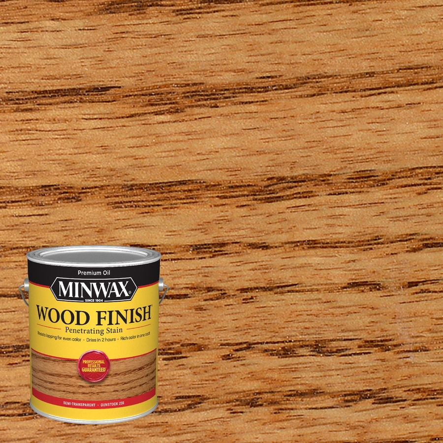 Minwax Wood Finish 128-fl oz Gunstock Oil-Based Interior Stain
