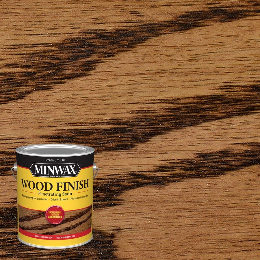 Minwax Wood Finish 128-fl oz Red Mahogany Oil-Based Interior Stain