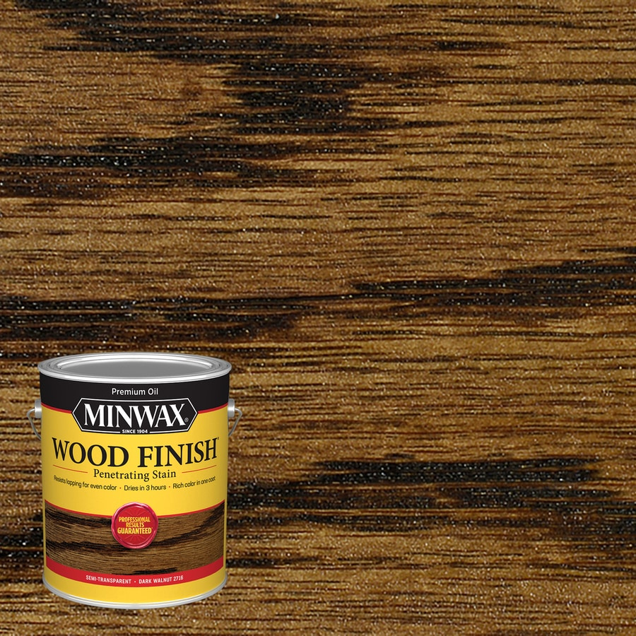 Minwax Wood Finish 128-fl oz Dark Walnut Oil-Based Interior Stain
