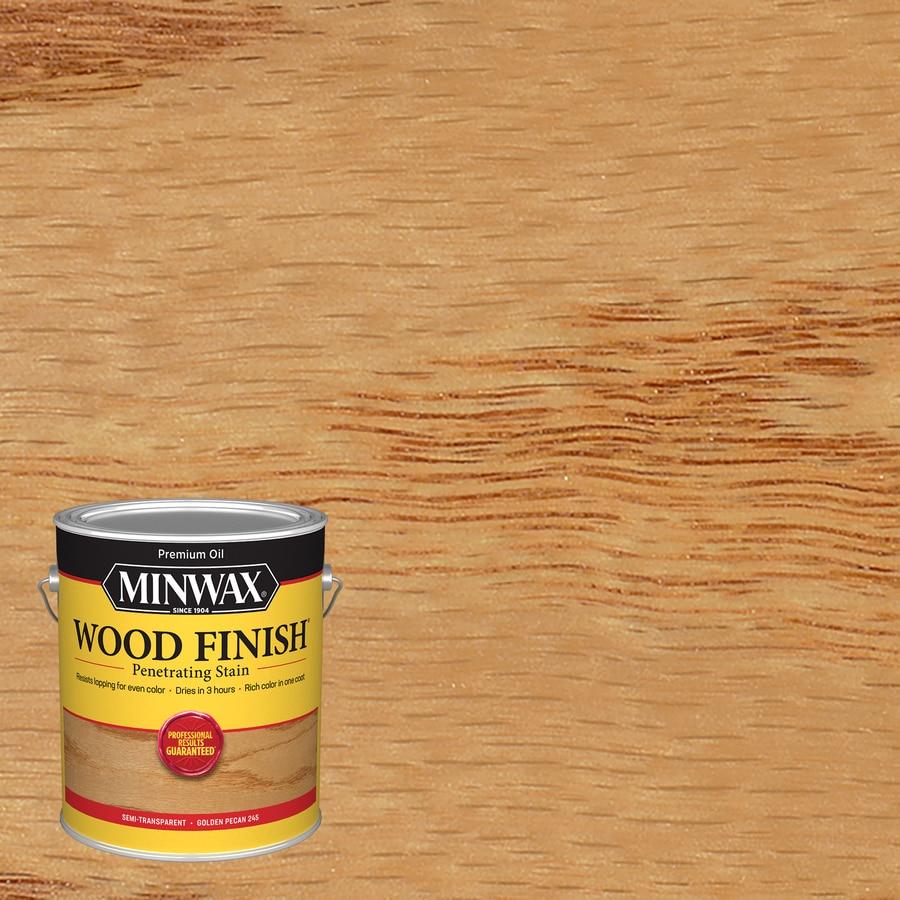 Minwax Wood Finish 128-fl oz Golden Pecan Oil-Based Interior Stain