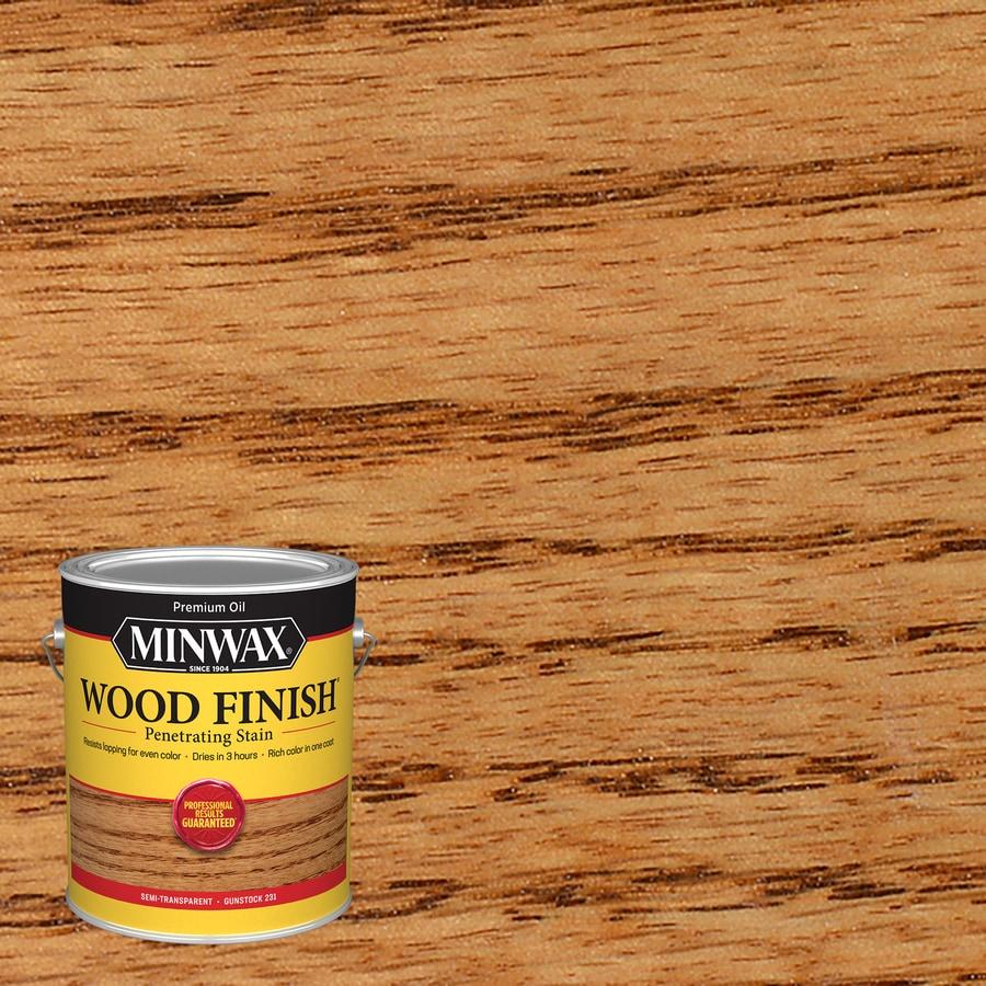 Minwax Wood Finish 128-fl oz Gunstock Oil-Based Interior Stain
