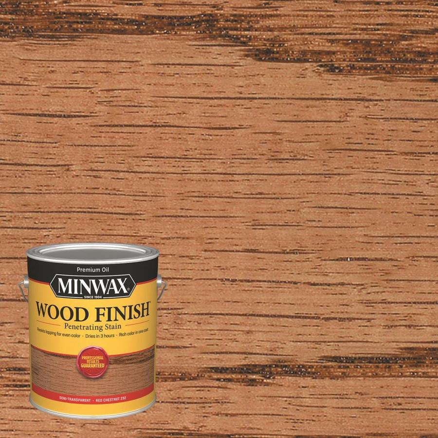 Minwax Wood Finish 128-fl oz Red Chestnut Oil-Based Interior Stain