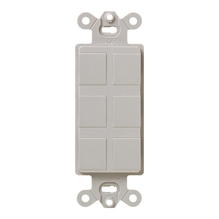 Shop lutron claro 1 gang taupe decorator rocker plastic wall plate at - Gang grijze taupe ...