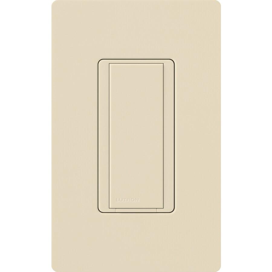 Lutron Maestro 8-Amp Single Pole Eggshell Indoor Push Light Switch