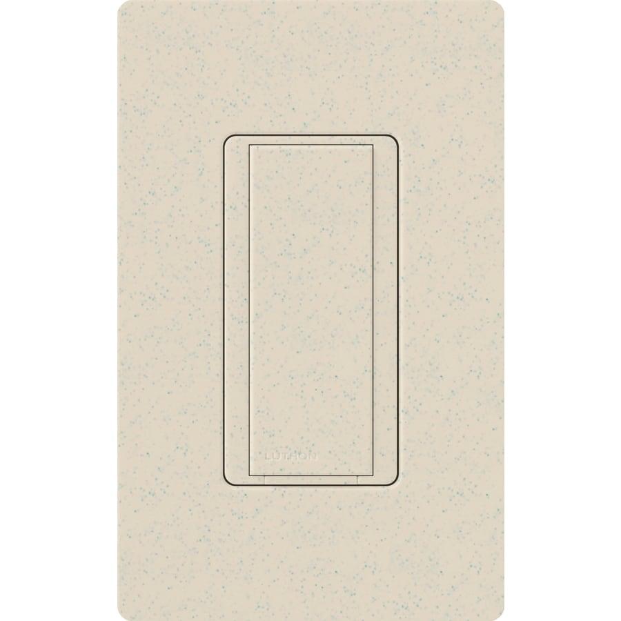 Lutron Maestro 8-Amp Single Pole Limestone Indoor Push Light Switch