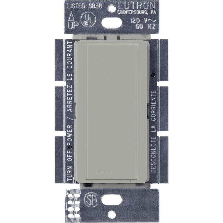 Lutron Maestro 8-Amp Single Pole Gray Indoor Push Light Switch