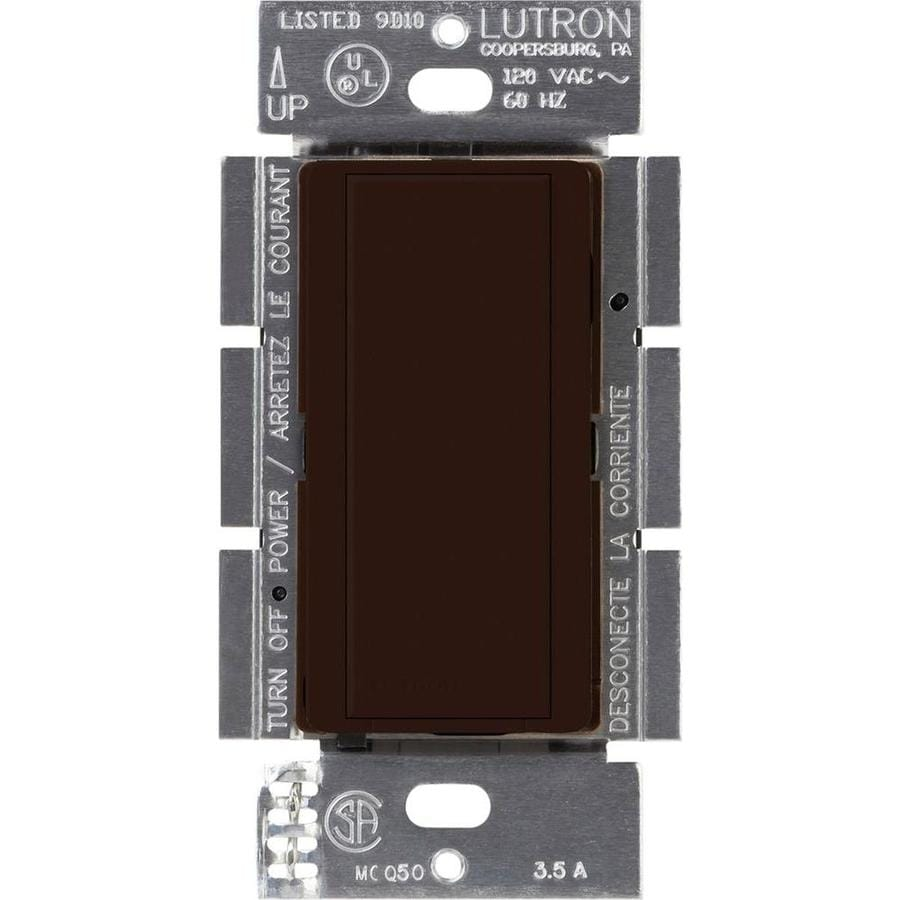 Lutron Maestro 8-Amp Single Pole Brown Indoor Push Light Switch