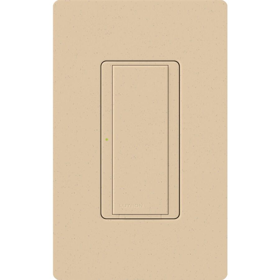 Lutron Maestro 8-Amp 3-Way Single Pole Desert Stone Indoor Push Light Switch