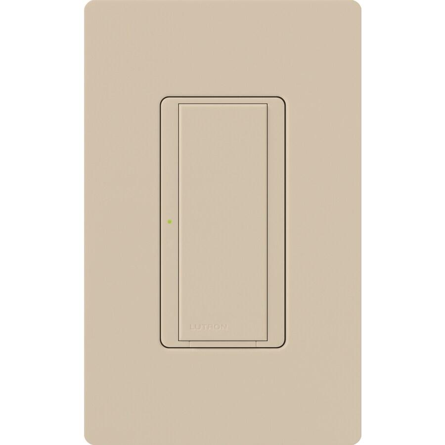 Lutron Maestro 8-Amp 3-Way Single Pole Taupe Indoor Push Light Switch