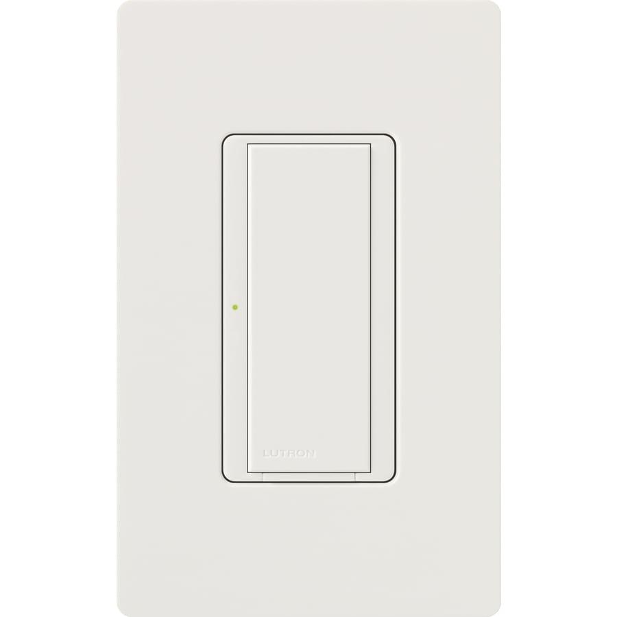 Lutron Maestro 8-Amp 3-Way Single Pole Snow Indoor Push Light Switch