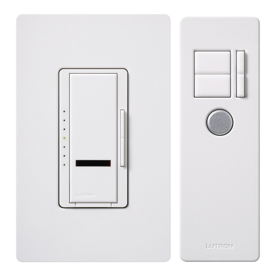 Lutron Maestro 600-Watt Single Pole Wireless White Indoor Remote Control Dimmer