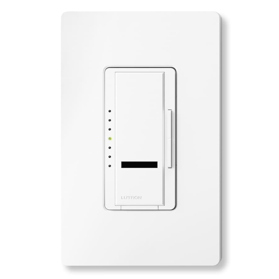 Lutron Maestro IR 1,000-Watt Single Pole Wireless White Indoor Remote Control Dimmer