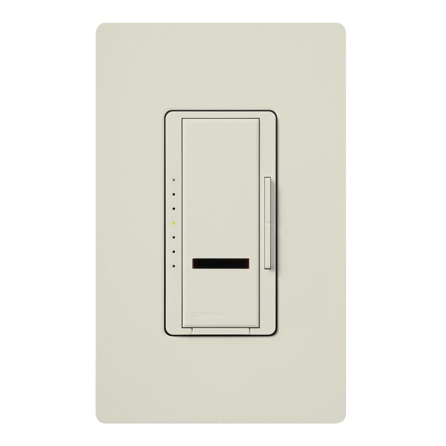 Lutron Maestro IR 1,000-Watt Single Pole Wireless Light Almond Indoor Remote Control Dimmer