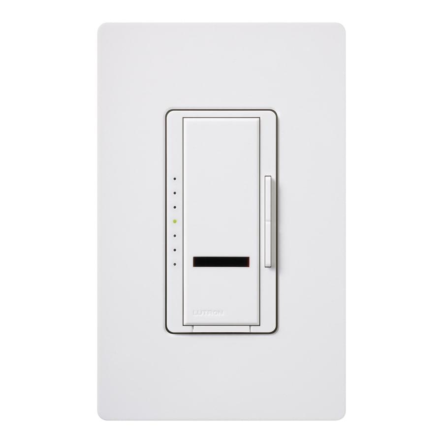 Lutron Maestro IR 800-Watt Single Pole Wireless White Indoor Remote Control Dimmer