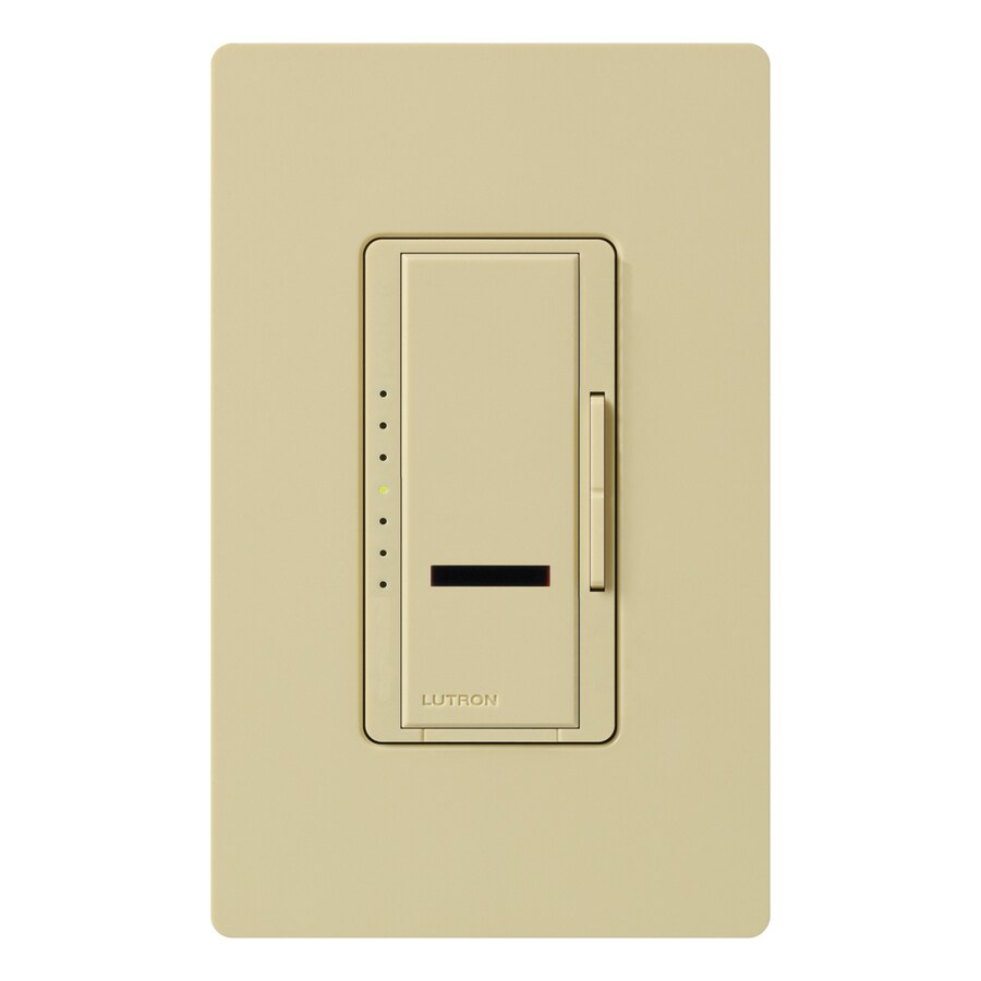 Lutron Maestro IR 800-Watt Single Pole Wireless Ivory Indoor Remote Control Dimmer