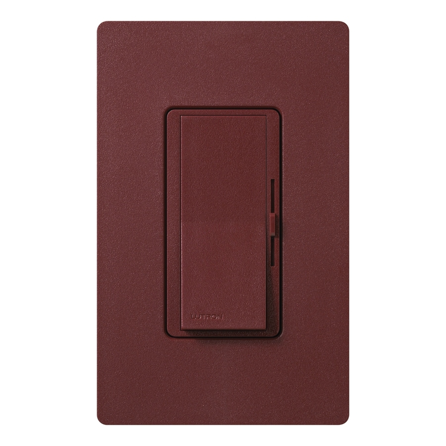Lutron Diva 300-Watt Single Pole Merlot Indoor Slide Dimmer