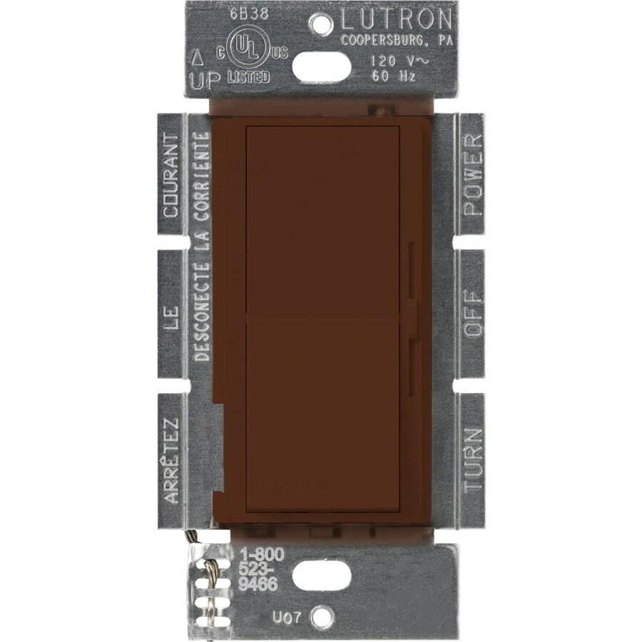 Lutron Diva 450-Watt Single Pole Sienna Indoor Slide Dimmer