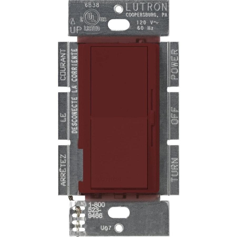 Lutron Diva 450-Watt Single Pole Merlot Indoor Slide Dimmer