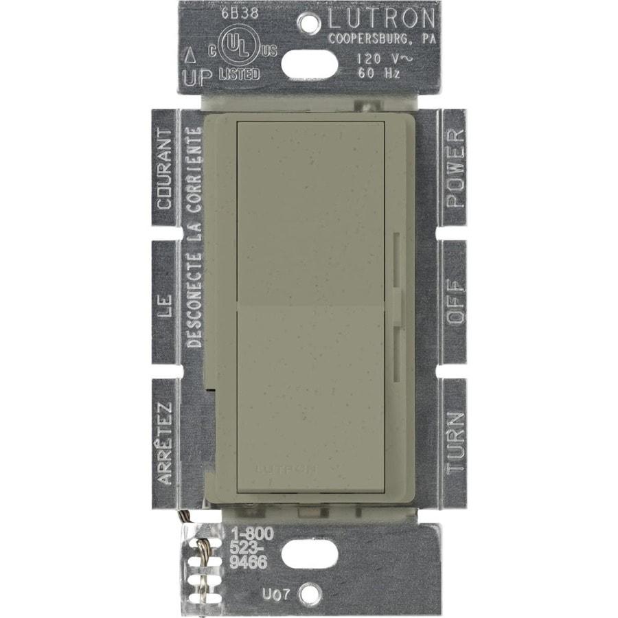 Lutron Diva 450-Watt 3-Way Single Pole Greenbriar Indoor Slide Dimmer