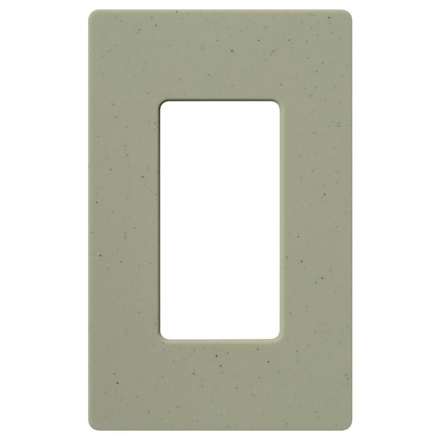 Lutron 1-Gang Greenbriar Decorator Rocker Plastic Wall Plate