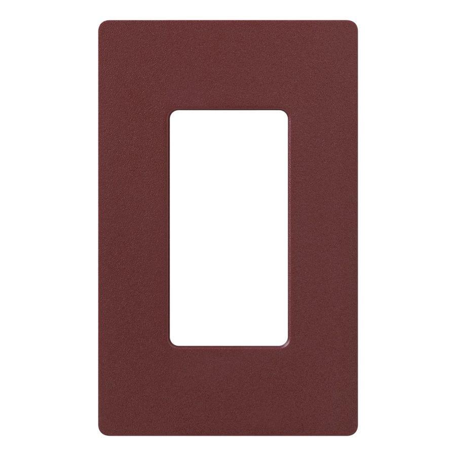 Lutron Claro 1-Gang Merlot Single Decorator Wall Plate