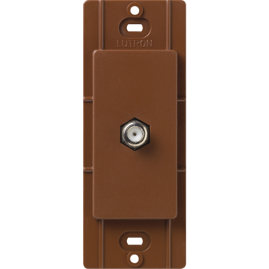 Lutron Claro Satin Color 1-Gang Sienna Coax Plastic Wall Plate