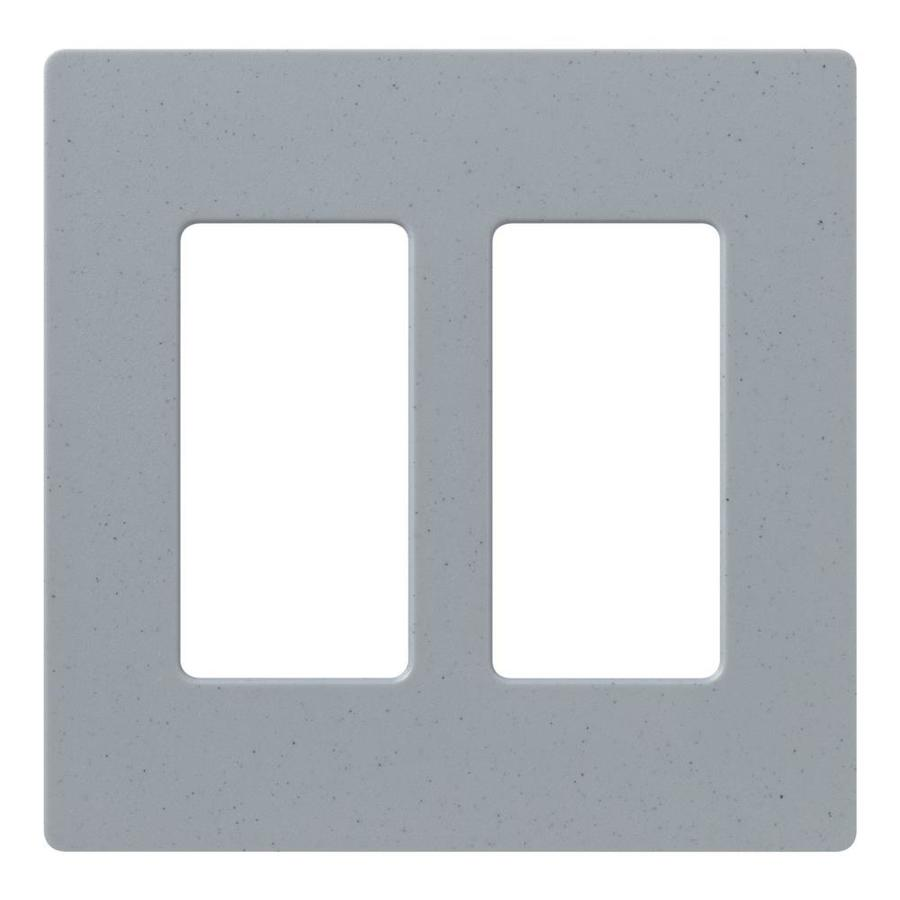 Lutron Claro 2-Gang Bluestone Double Decorator Wall Plate