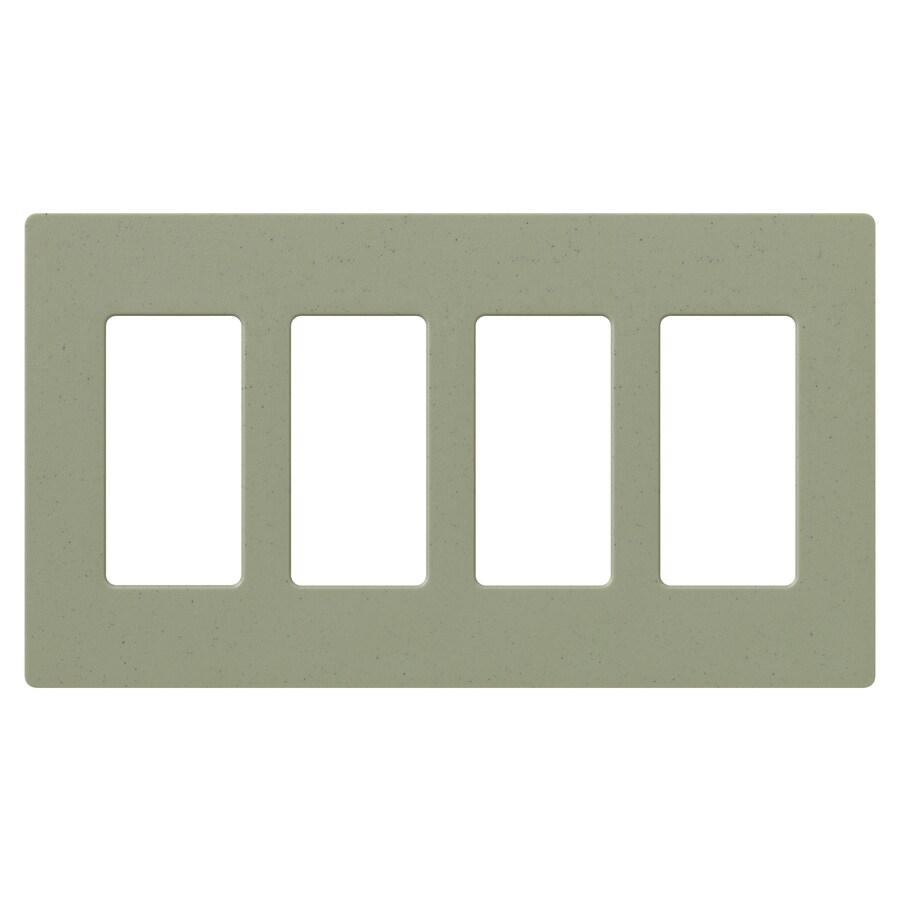 Lutron 4-Gang Greenbrair Decorator Rocker Plastic Wall Plate