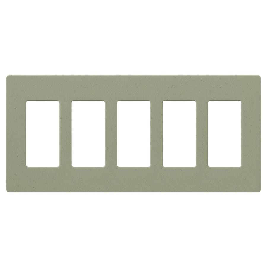 Lutron 5-Gang Greenbriar Decorator Rocker Plastic Wall Plate
