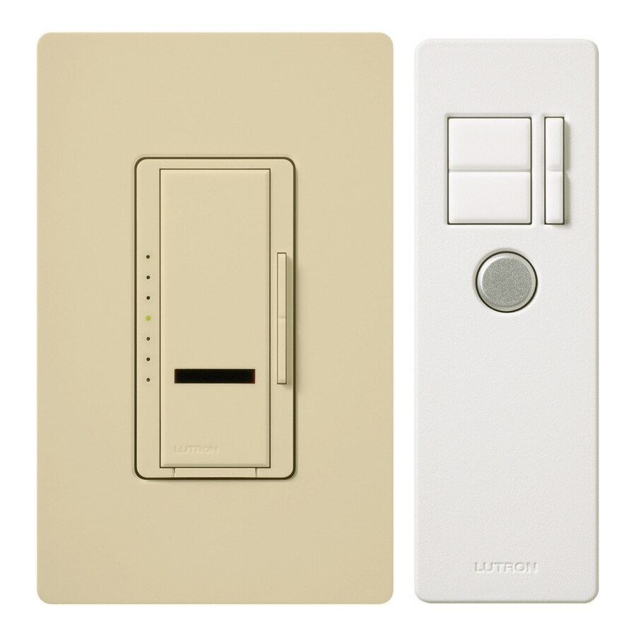 shop lutron maestro ir 1 switch 600 watt single pole wireless ivory remote dimmer at. Black Bedroom Furniture Sets. Home Design Ideas
